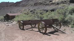 P01983 Wagon and Shed at Capital Reef National Park Stock Footage