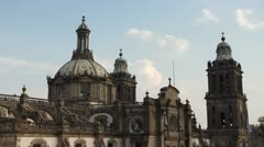 zocalo mexico city cathedral - stock footage