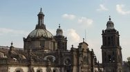Stock Video Footage of zocalo mexico city cathedral
