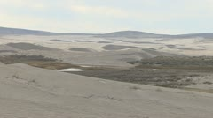P01994 Sand Dunes and Wetlands in the Red Desert of Wyoming Stock Footage
