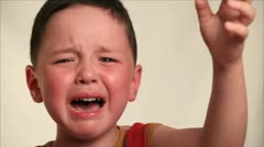 Little boy crying 2 Stock Footage