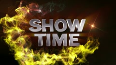 SHOW TIME Text in Particle (Double Version) - HD1080 - stock footage