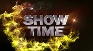 SHOW TIME Text in Particle (Double Version) - HD1080 Stock Footage