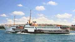 Istanbul journey by the ship Stock Footage