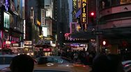 Evening  with heavy traffic on Broadway in New York City HD701 Stock Footage