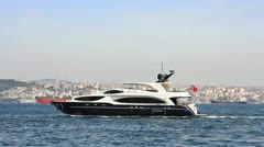 Luxury yacht - stock footage