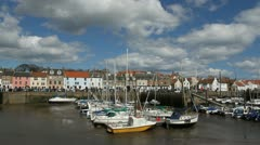 Anstruther Harbour Fife Scotland Stock Footage