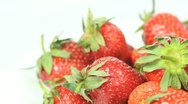 Strawberries with copy space Stock Footage