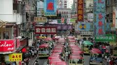 Mini bus station,  Kowloon, Hong Kong Stock Footage