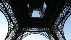 Eiffel Tower. Tilt shot. Stock Footage