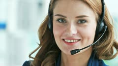 Lovely receptionist Stock Footage