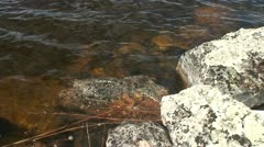 Moraines under water in Finnish Lapland 3 - stock footage