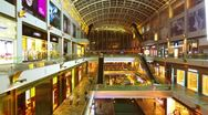 Stock Video Footage of Shopping mall timelapse in motion