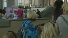 Tourists enter Vatican museum Stock Footage