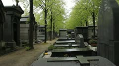 Parisian cemetery. Stock Footage