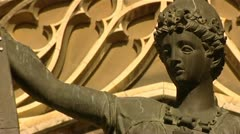 Seville spain statue Stock Footage