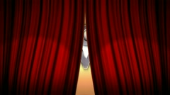 CURTAIN and SHOWTIME Text in Particle (Double Version) - HD1080 - stock footage