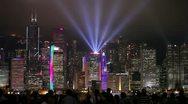 Hong Kong Skyline at Dusk, China Stock Footage