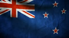New Zealand flag. Stock Footage