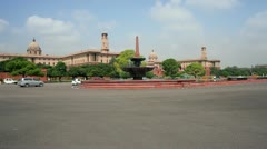 The Parliament Building, Delhi, India Stock Footage