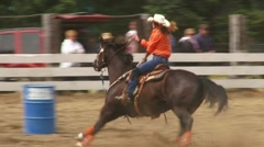 Rodeo Zoom Out Stock Footage