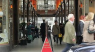 The Royal Arcade time lapse in Mayfair, London Stock Footage