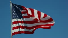 hd of american flag - stock footage