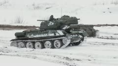 Russian Tank T34 Stock Footage