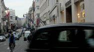 Old bond street Stock Footage