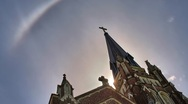 Catholic Church HDR Time Lapse Stock Footage