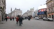 Piccadilly Circus. Wide shot. Stock Footage