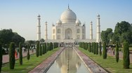Taj Mahal, Agra, India Stock Footage