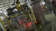 Stock Video Footage of Automated Robot Welding Nest Assembly Line Industrial Manufacturing Automation