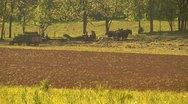 Amish Farmers Preparing Plow Stock Footage