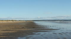 St Andrews beach Fife Scotland Stock Footage