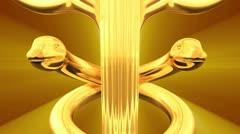 Caduceus 3D animation Stock Footage
