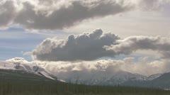 Intense Mountain Clouds over Kluane Lake 1 Stock Footage