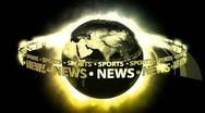 SPORTS NEWS Earth - Earth 73 (HD) Stock Footage