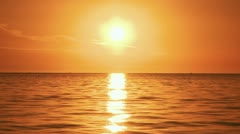 Sunset Beach Sun High - stock footage