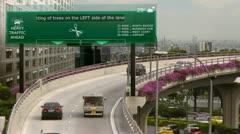 Hi-tech signboard Stock Footage