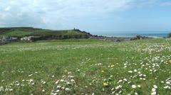 Bude Headland in Cornwall Stock Footage