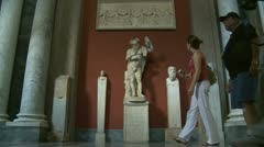 Timelapse busy day at the Vatican museum Stock Footage