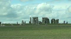 Stonehenge Drive Past - stock footage