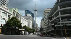 Auckland city NZ 03 - stock footage