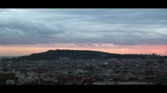 Barcelona view. Stock Footage