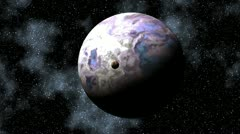Two planets in depths of space Stock Footage