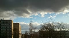 Clouds over an eastern German city Stock Footage
