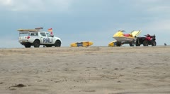 RNLI Lifeguard and Beach Stock Footage