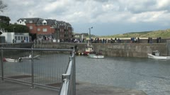 Padstow Harbour in Cornwall Stock Footage