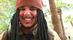 Pirate Performer in Vegas Stock Footage